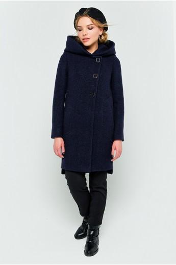 """Зимнее пальто с капюшоном  """"Стефани"""" темно-синее"""