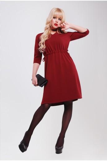 Платье с завышенной талией «Лили» марсала