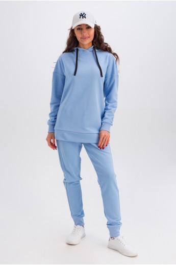 Женский костюм из трехнитки «Дина» голубой