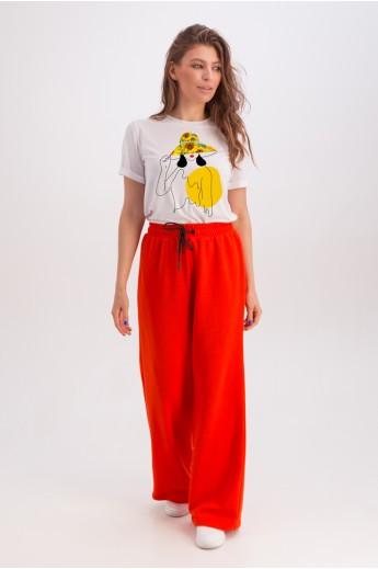 Классическая белая футболка «Эрин» девушка подсолнухи