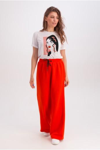 Классическая белая футболка «Эрин» портрет