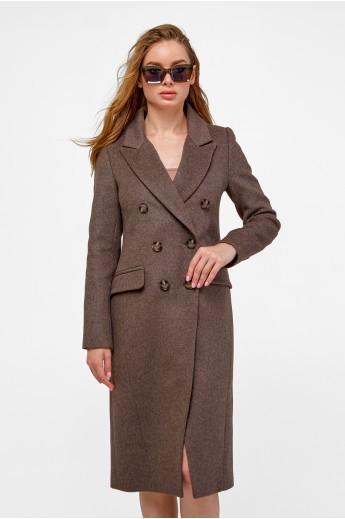 Двубортное пальто «Рене» капучино