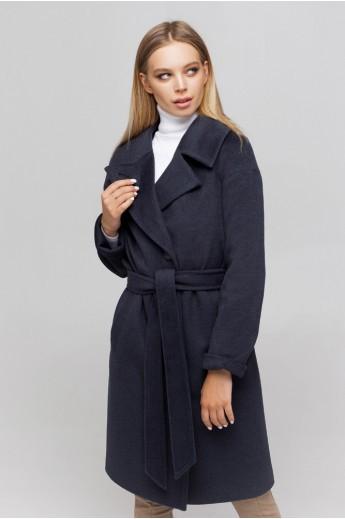 Пальто с манжетами «Ронни» морская волна