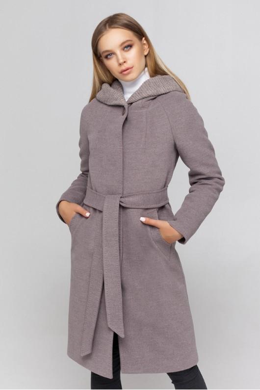 Утепленное пальто «Дайана» мокко