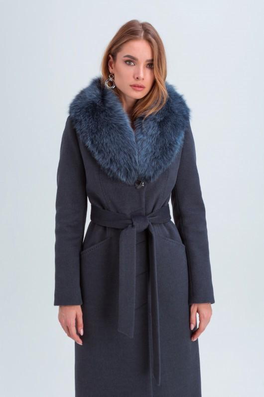 Классическое пальто «Изабель» морская волна