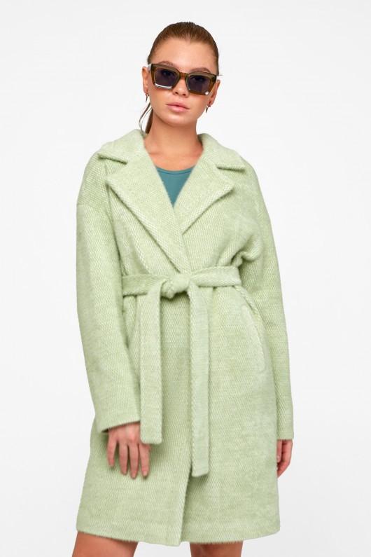 "Демисезонное пальто ""Монро"" фисташка"