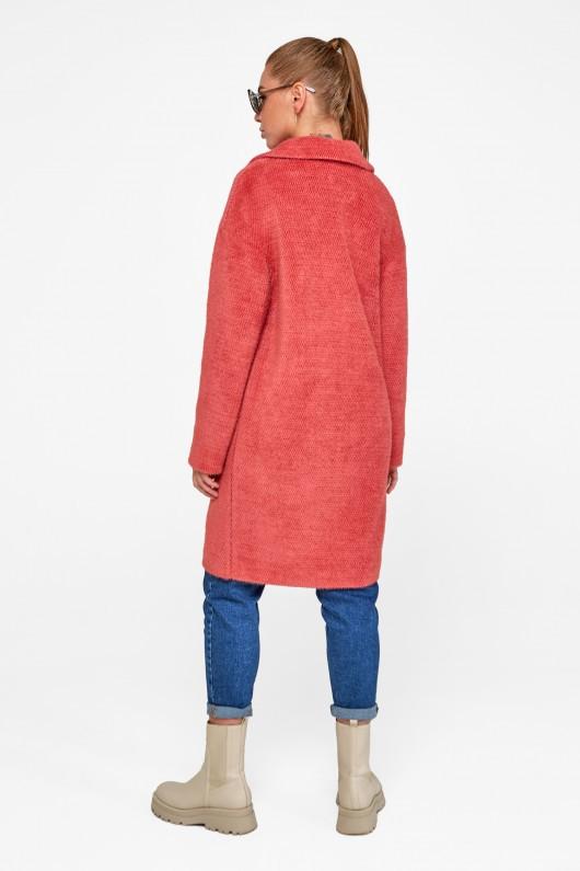 """Демисезонное пальто """"Монро"""" коралловый"""