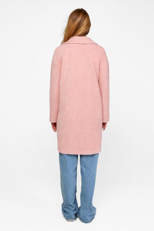 """Демисезонное пальто """"Монро"""" розовый"""