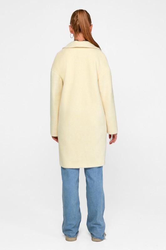 "Демисезонное пальто ""Монро"" ваниль"