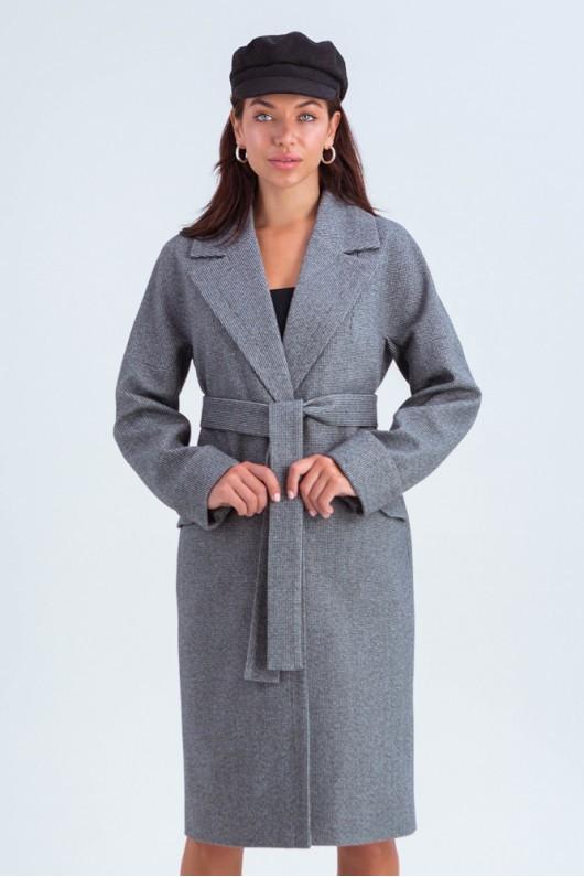 Свободное пальто «Деми» темно-серое