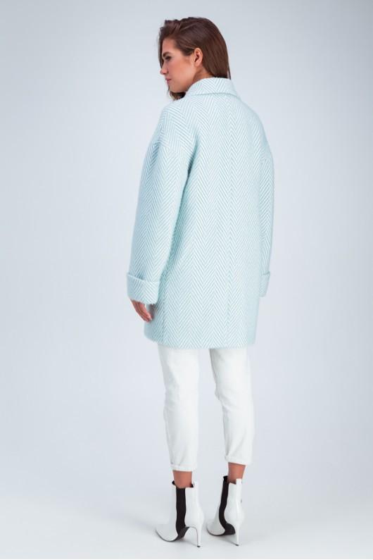 Двубортное пальто «Мэг» бирюзовое