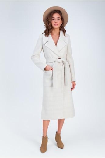 Пальто с разрезами по бокам «Андреа» бежевое
