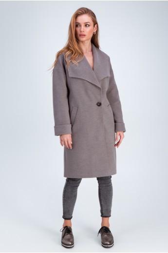 Пальто с воротником апаш «Даниэла» мокко
