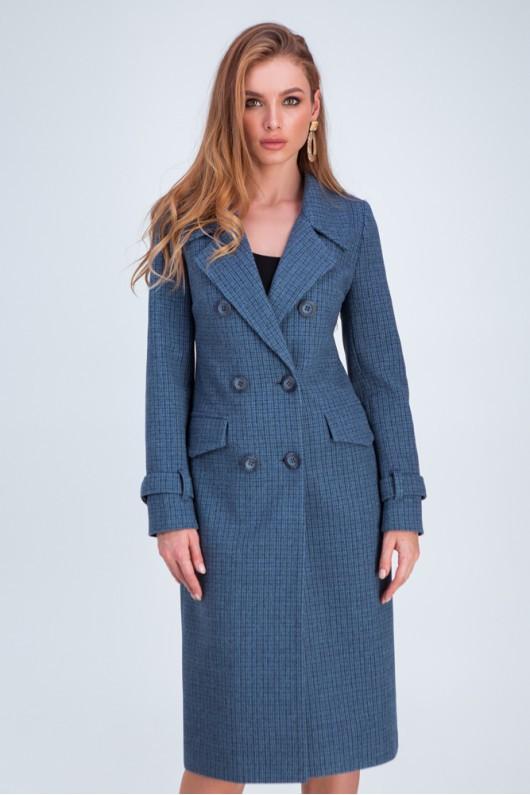 Прямое пальто «Бруна» джинс