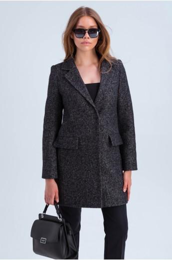Короткое пальто в пиджачном стиле «Шейла» черное