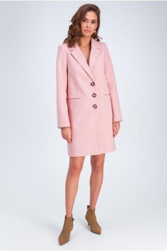 Полупальто «Роуз» розовое
