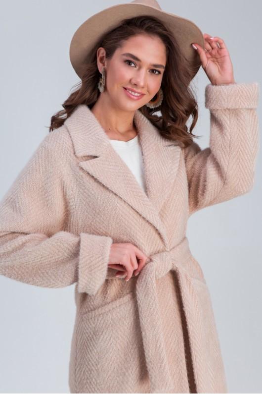 Осеннее пальто «Эмма»  бежевое