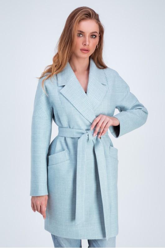 Пальто оверсайз «Астрид» голубое