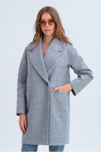Пальто оверсайз «Астрид» серое
