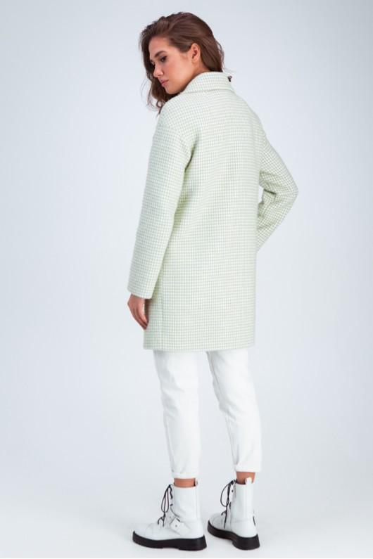 Пальто демисезонное «Лили» фисташковое