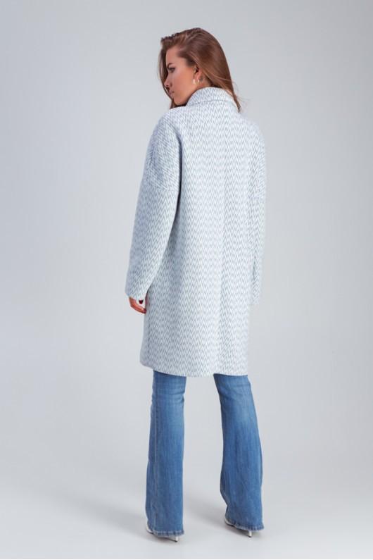 """Весеннее пальто средней длины """"Ясмин"""" голубое"""