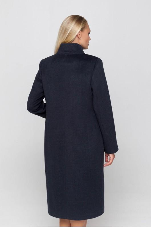 Длинное демисезонное пальто «Ода» морская волна