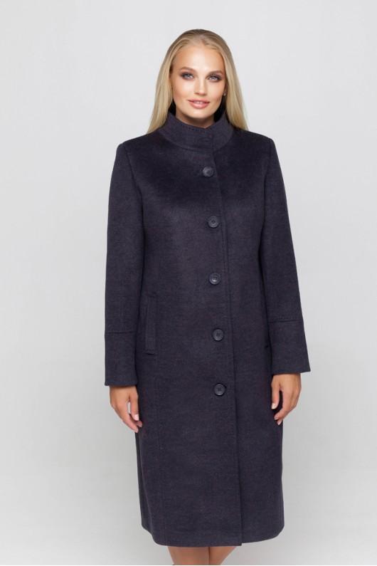 Длинное демисезонное пальто «Ода» ультрафиолет