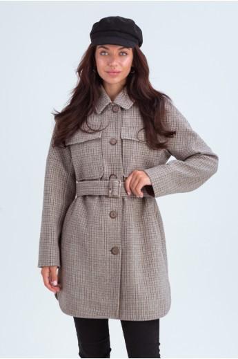 Пальто-рубашка «Майли» капучино