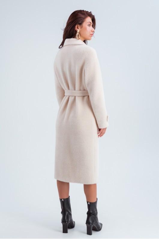 Двубортное пальто «Катарина» светло-бежевое