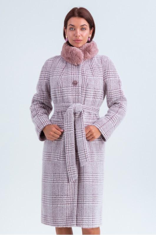 Полномерное зимнее пальто «Эльза» марсала