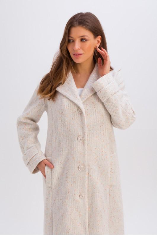 Весеннее пальто на пуговицах «Френсис» белое
