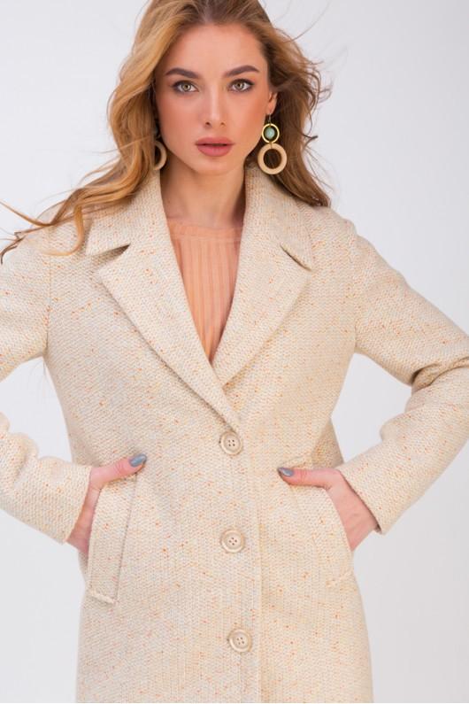 Весеннее пальто с разрезами «Аманда» бежевое
