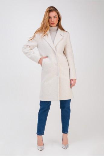 Весеннее пальто с разрезами «Аманда» белое
