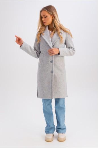 Весеннее пальто с разрезами «Аманда» голубое