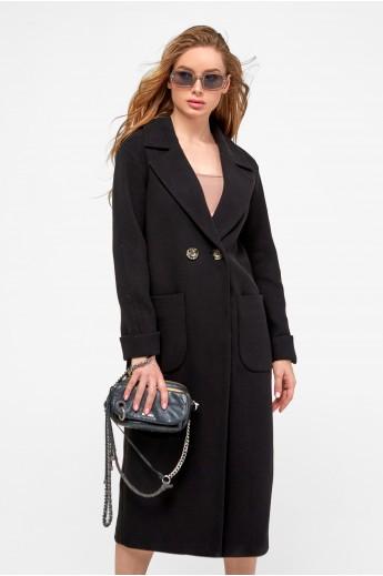 Пальто-миди с накладными карманами «Мариз» черное