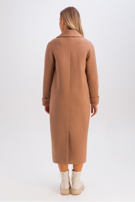 Пальто-миди с накладными карманами «Мариз» кэмел