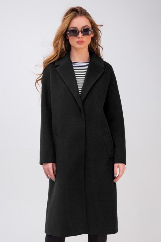 Пальто-халат «Крус» черное