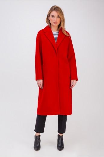Пальто-халат «Крус» красное
