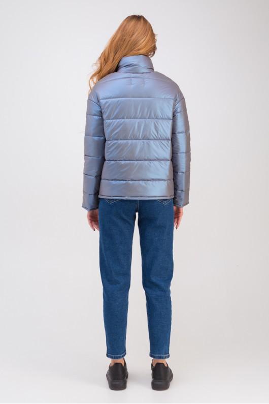 Дутая куртка с воротником-стойкой «Джасти» ультрафиолет