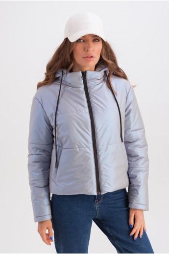 Короткая куртка с капюшоном «Окси» ультрафиолет