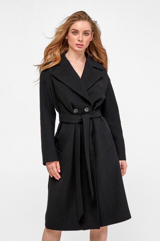 Классическое пальто оверсайз «Агнесса» черное