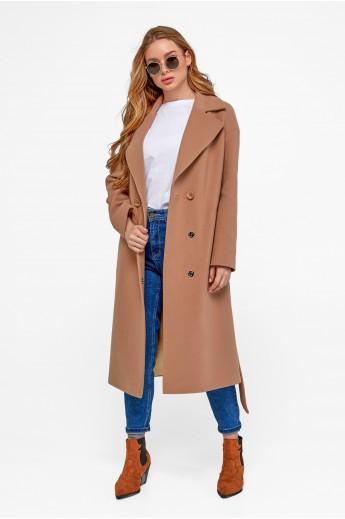 Классическое пальто оверсайз «Агнесса» кэмел