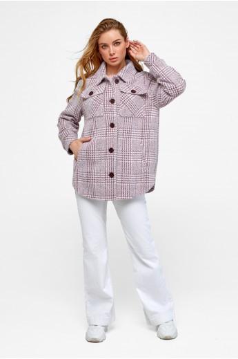 Пальто-рубашка «Эйда» марсала клетка