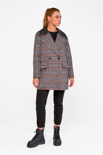Пальто-пиджак «Харлоу» черно-красное
