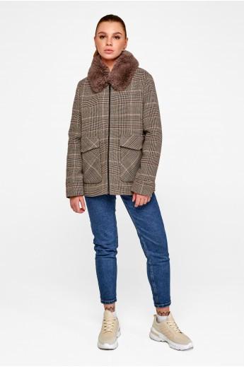 """Короткое пальто на утеплителе """"Эбби"""" кофе"""