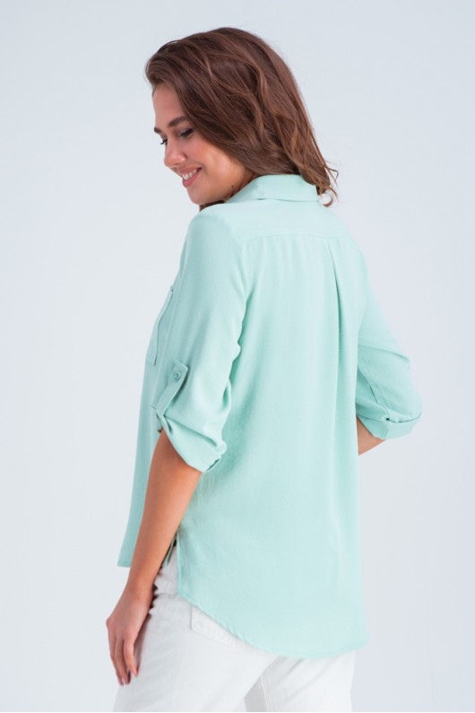 Женская рубашка с коротким рукавом «Амалия» мята