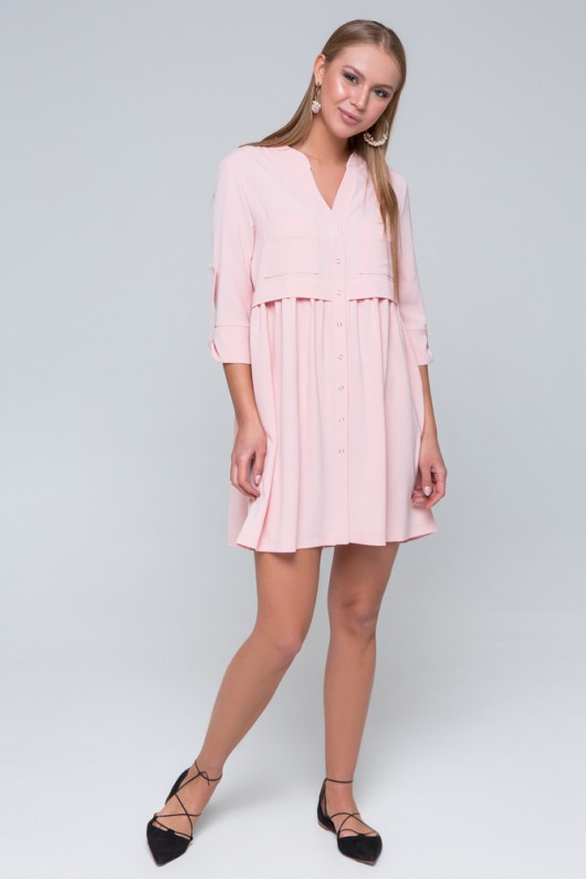 "Платье-рубашка ""Герда"" персик"