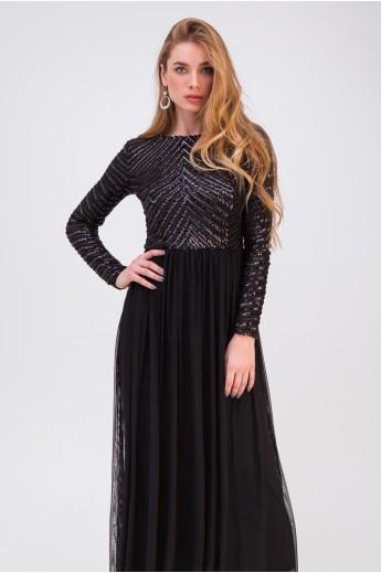 Длинное вечернее платье «Беатрис» черное