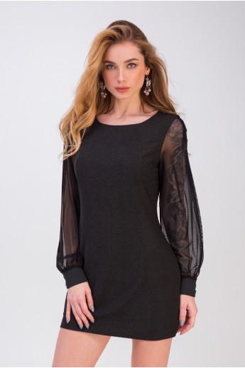 Короткое коктейльное платье «Лотти» черное