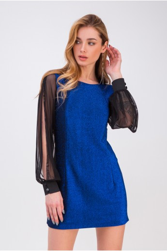 Короткое коктейльное платье «Лотти» электрик